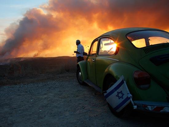 שריפה בכרמל חיפה / צלם: רויטרס